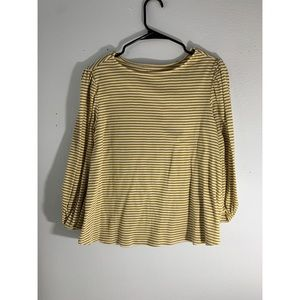 Philosophy long sleeve yellow striped top